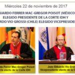 Eduardo Ferrer Mac-Gregor Poisot (México) es elegido Presidente de la Corte IDH