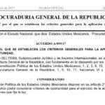 Acuerdo A/099/17 para la aplicación de los criterios de oportunidad