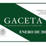 ENERO DE 2018 – Gaceta del Semanario Judicial de la Federación