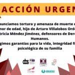 Denunciamos tortura y amenaza de muerte contra menor de edad hijo de defensores de Derechos Humanos