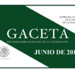 JUNIO DE 2018 – Gaceta del Semanario Judicial de la Federación