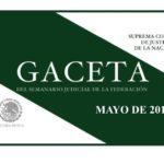 MAYO DE 2018 – Gaceta del Semanario Judicial de la Federación