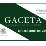 DICIEMBRE DE 2018 – Gaceta del Semanario Judicial de la Federación