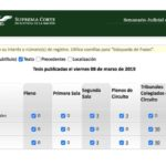 Jurisprudencias y Tesis Aisladas publicadas el 08 de marzo de 2019