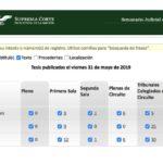 Jurisprudencias y Tesis Aisladas publicadas el 31 de mayo de 2019
