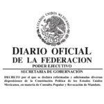 Publicación de la Reforma Constitucional en materia de Consulta Popular y Revocación de Mandato