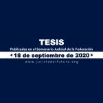 Jurisprudencias y Tesis Aisladas publicadas el 18 de septiembre de 2020