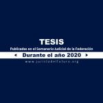 Jurisprudencias y Tesis Aisladas publicadas durante 2020