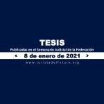 Jurisprudencias y Tesis Aisladas publicadas el 8 de enero de 2021